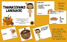 Speech Room News: Thanksgiving Language: Categories, Riddles, Synonyms, Analogies, Sequencing