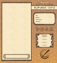 Republic City App Template by NeonRemix.deviantart.com on @DeviantArt