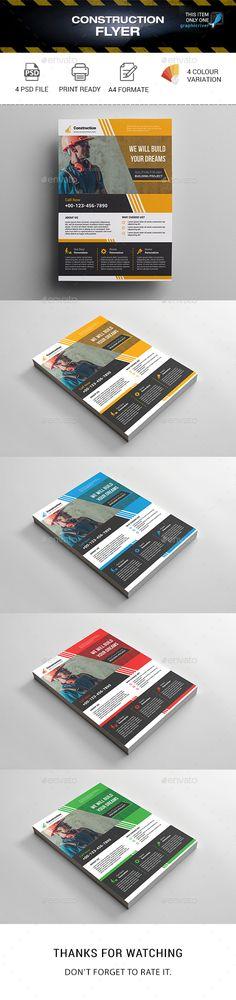 Construction Business Flyer Template PSD