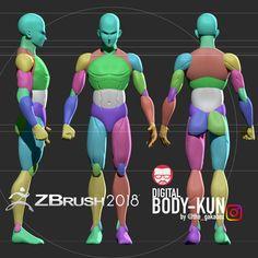 My digital bodykun , Ranyert Guanipa [the_gakabox] Zbrush Anatomy, Anatomy Drawing, Human Anatomy, Body Anatomy, Zbrush Character, 3d Model Character, Character Modeling, Character Design, Character Art