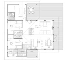 Small House Plan CH84  from ConceptHome.com