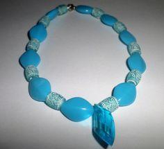 Light Blue Multi-Bead Anklet by MandyPandyGiftShop on Etsy