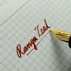 Writing sample from Ranga Zeal pen.. The Nib is broad Schmidt nib.. Which I have grounded to medium cursive italic... #fountainpen #fountainpennetwork #fpgeek #penaddict #penporn #handmade #rangahandmade #Ranga #noodlersink #antietam #noodlersantietam #redink #ebonite #handwriting #handwritten #penporn #cursive #calligraphy #Rangapens #rangapen #madeinindia #fpn #styloàplume #pluma #vulpen #canetatinteiro