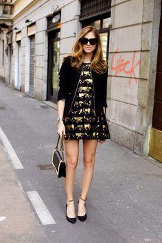 Chiara Ferragni of The Blonde Salad. Fashion Beauty, Fashion Looks, Womens Fashion, Nerd Chic, The Blonde Salad, Spaghetti Strap Dresses, Fashion Pictures, Paris Fashion, Style Icons