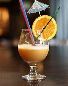 You Butter Bet Your Life: Rhum Clement, Blackstrap Rum, orange Curacao, Cardamom-butter syrup, mango nectar. #tiki
