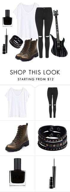 """Synyster Gates Style c:"" by dark-soul-xd on Polyvore featuring H&M, Topshop, Replay, RGB Cosmetics and MAC Cosmetics"