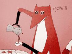 кофе лиса