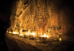 MasonJar + Candlelight = #RomanticAmbiance #OurWedding <3 #LoveIsInTheAir #Weddingbells english-country-garden-wedding