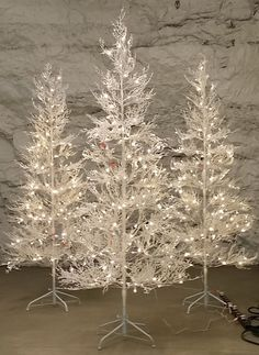 GE, 7 ft. White Winter Berry Branch Artificial Christmas Tree with ...