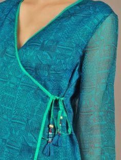 Blue Kota Silk Angrakha