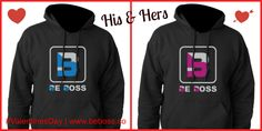 His & Hers Sweatshirts | #ValentinesDay #ValentinesDayGifts | www.beboss.co