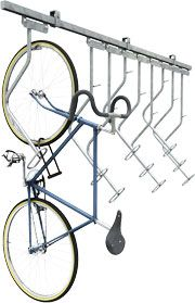 The Bike File - efficient indoor bike storage - sliding hangars allow for ease of use.