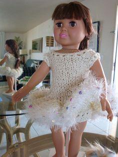 Ladyfingers - AG doll,Springfield Dolls & other 18 inch dolls - Skating - Ballerina Costume w/Skates