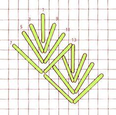 Diamond Leaf stitch