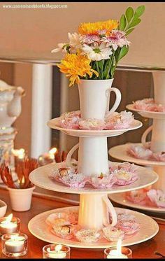 70 new ideas for party table centerpieces diy dollar stores bridal shower Deco Champetre, Bridal Shower, Baby Shower, Deco Floral, Decoration Table, Table Centerpieces, Wedding Centerpieces, Centrepieces, High Tea