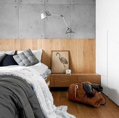 Modern Wood Wainscoting Paneling Plywood Bed #panelingwallsmodern