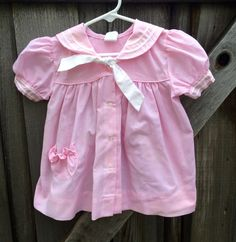 Pink Gingham Sailor Dress 18/24 Months by lishyloo on Etsy