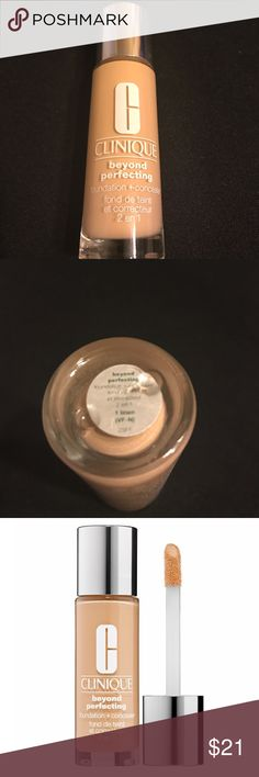 Clinique beyond perfecting 1 Linen New Clinique beyond perfecting 1 Linen New. I love this foundation. It is full coverage but still feels like nothing. It is great for all skin types. Retail $28! Sephora Makeup Foundation