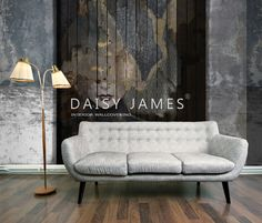 DAISY JAMES wallcover Wooden Lady
