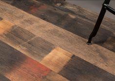 Plancher Massif Monolame Chêne Rives Abimées Campagne Vieux Fond De Wagon Atelier Brut - Fsc- Rainures 2 Cotes Et Fausses Languettes - Bouts Coupes D' Equerre - Largeurs Panachees (livre En 4 Largeurs )selon Stock De 90 à 180mm - Longueurs De 500 à 2500mm