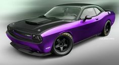 One off Purple Challenger SRT by Mopar
