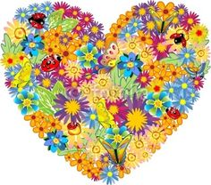 Flowers Heart-Vector © bluedarkat