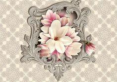Fototapeta ścienna herbaciane kwiaty 2967VE Consalnet
