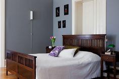 dark brown bedroom