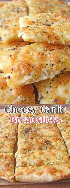 Cheesy Garlic Breadsticks …