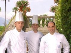 Chefs of Restaurant Mistral inside Grand Hotel Villa Serbelloni.A one-Michelin-star restaurant on the shores of the lake.