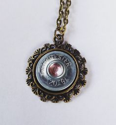 A personal favorite from my Etsy shop https://www.etsy.com/listing/259126581/shotgun-shell-necklace-country-gypsy