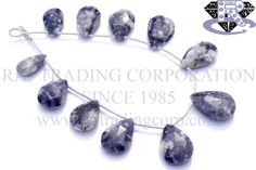 Morado Purple Opal Faceted Pear (Quality A+) Shape: Pear Faceted Length: 18 cm Weight Approx: 14 to 16 Grms. Size Approx: 9x15 to 13x19 mm Price $49.50 Each Strand