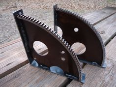 Rusty Cool Engine Gear Shelf Brackets by ScrapyardArt on Etsy