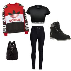 adidas by theresa-hall on Polyvore featuring Topshop, Rodarte, Timberland and Prada