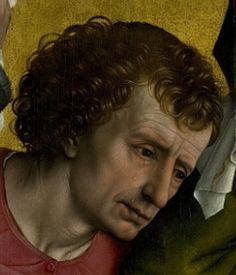Descent from the Cross. Rogier van der Weyden (1435). Detail: John the Evangelist