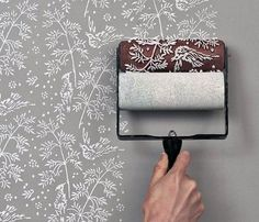 Patterned paint roller, how clever.