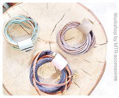 Workshop by mtr-accessoires; armband van leer