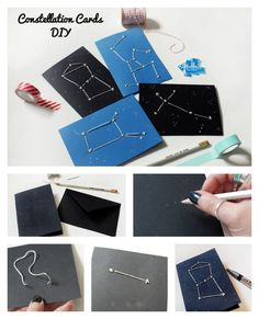Constellation Cards | 40 Unconventional DIY Valentine's Day Cards