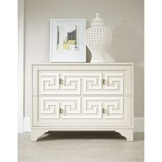 Melange Artemis Chest in White $850