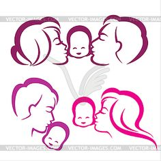 Happy Family Silhouette, Vector Symbols Collection Royalty Free Cliparts, Vectors, And Stock Illustration. Free Vector Clipart, Vector Art, Stencil Art, Stencils, Boy Symbol, Father And Baby, Laser Art, Carving Designs, Silhouette Vector