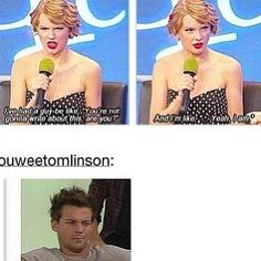 hey...guys should learn by not that they shouldn't date her. Harry shouldn't be surprised when her next album comes out