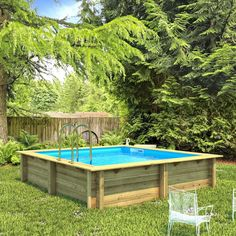 Piscine hors-sol bois Weva Proswell by Procopi, x x m Deck Furniture, Outdoor Furniture Sets, Outdoor Decor, Oberirdischer Pool, Patio Plans, H 1, Small Gardens, Multimedia, Google Images