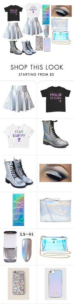 """Holographic Twins"" by peggy-hamilton on Polyvore featuring N.Y.L.A., NARS Cosmetics, Accessorize, Charlotte Russe and OK Originals"