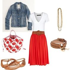 Red Polyvore Clothes