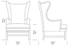 Resultado de imagem para sofa chair measurements