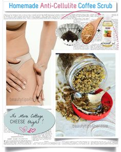 Cellulite sucks.. nobody wants that dimpled, uneven skin and the lest desirable part about is that it's near impossible to get rid of it. But there are solutions to get rid of those cottage cheese skin naturally. Learn how to do your own scrub using ingredients available in your kitchen.  #cellulite, #getting_rid_cellulite, #beauty_tips