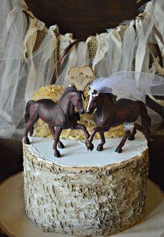 Horse Wedding Cake Topper-Western Cake by MorganTheCreator on Etsy Western Wedding Cakes, Western Cakes, Cowboy Cakes, Cool Wedding Cakes, Wedding Cake Toppers, Wedding Country, Country Weddings, Romantic Weddings, Elegant Wedding