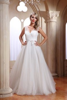 Stunning Princess style wedding dress by White Rose available at Wedding Belles of Otley
