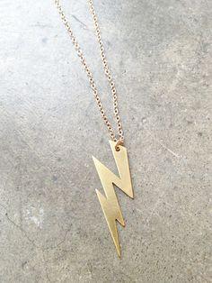 Lightning Bolt Necklace   Maude-- (Jason grace!)