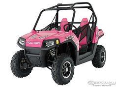 pink ranger side by side   Polaris Announces Limited Edition ATVs - Motorcycle USA
